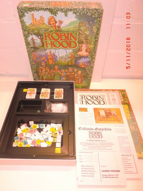 Robin Hood of Laurin Nice Old Board Game