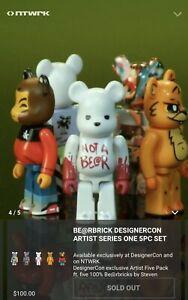 Designer Con 2019 Bearbrick 100/% 5 Artist Medicom Be@rbrick San Diego Rare Dcon