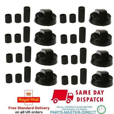 FITS HYGENA HOMARK FRIGIDAIRE BUSH BLACK COOKER OVEN CONTROL KNOB /& ADAPTORS x 2