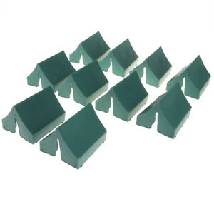 Plastic-Toy-Soldiers-Figures-10-PCS-Military-Model-Kits-Tent-Green