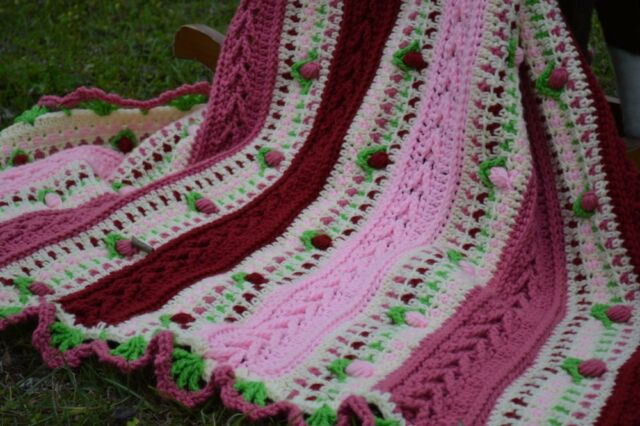 Vintage Victorian Rose Baby Lap Afghan Crochet Pattern Ebay