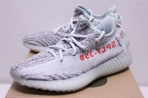 6d13da7bf5763 Adidas Yeezy Boost 350 V2 Blue Tint Grey Sneakers Boy s Size 4-7 ...