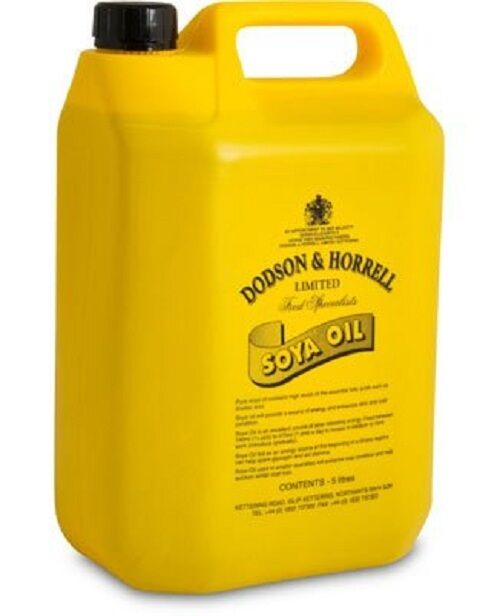 Dodson & Horrell Soya Oil 5 litre- for coat condition and shine