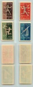 Lithuania 🇱🇹 1938 SC B47-B50 MNH . rt4204
