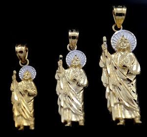 830554d5a2c Medalla de San Judas Tadeo / St Jude Pendant SELECT SIZE 14k Gold | eBay