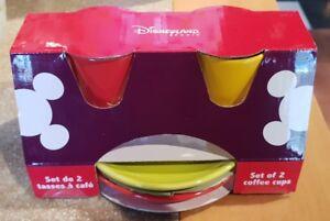 Set-de-2-tasses-a-cafe-of-Coffee-cups-MICKEY-COLOR-Couleur-Disneyland-Paris