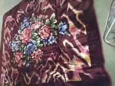 Solaron Korean Blanket throw Thick Mink Plush King size Flowers Licensed Acrylic