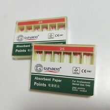 2boxes Gutta Percha Absorbent Paper Points Root Canal Endo 25 200pcsbox