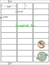3000 Address Labels Amazon Fba Labels 30 Per Sheet 30up 2625x1 100 Sheets