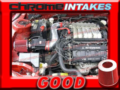 RED 91-99 MITSUBISHI 3000GT GTO//DODGE STEALTH N//T 3.0 3.0L V6 AIR INTAKE KIT