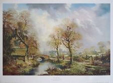The Mill Path - John Corcoran print, 75x55cm,  vintage country posters