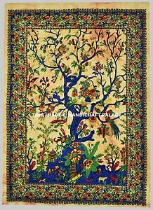 Tree-of-Life-Tapestry-Wall-Hanging-Indian-Peacock-Bohemian-Decor-Beach-Throw-Art