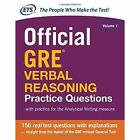 Official GRE Verbal Reasoning Practice Questions by Educational Testing Service (Paperback, 2014)