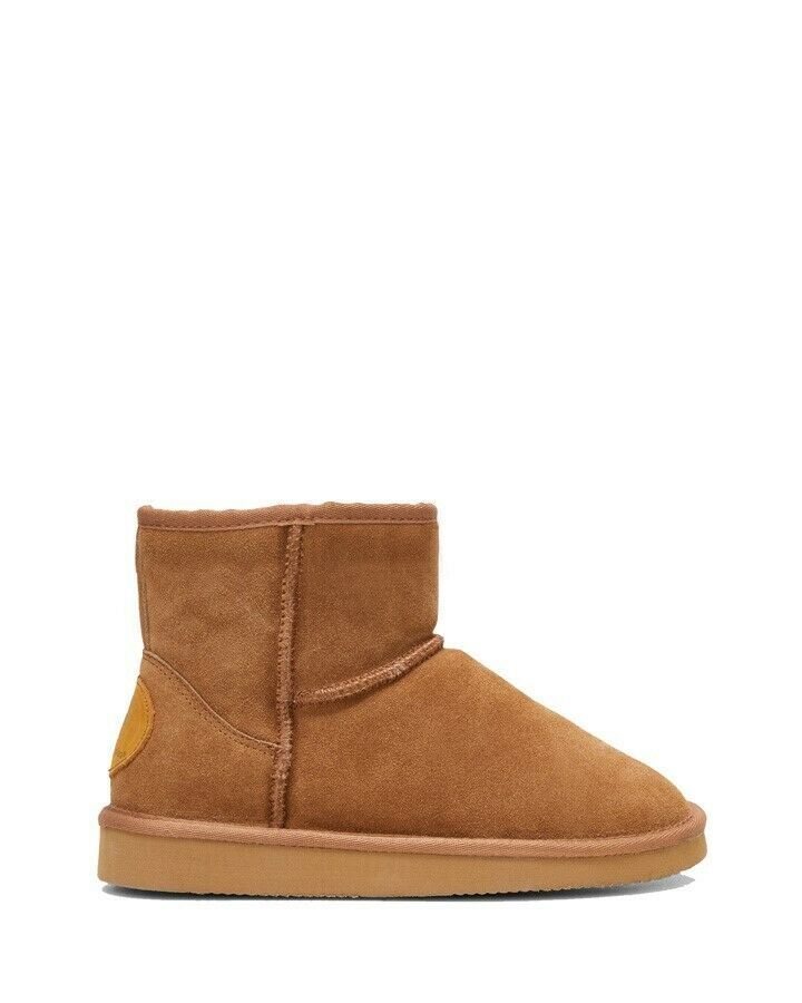 Mens Hush Puppies Lorry Slippers Warm Winter Slip On Chestnut Suede Shoes