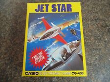 JET STAR CG - 430 CASIO LCD HANDHELD GAME TABLETOP 1988 NEW OLD STOCK RARE