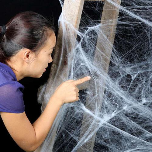 Stretchy Spider Web Cobweb Prop for Halloween Home Bar Party Festival Decor ***