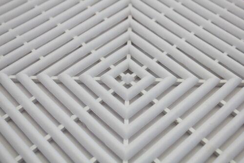 Bene Domo Modena White Plastic Modular Non Slip Wet Area Mat Tile Bathroom