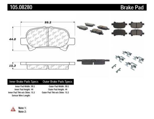 Disc Brake Pad Set Rear Centric 105.08280