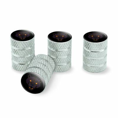 Panther Face Tire Rim Valve Stem Caps Aluminum
