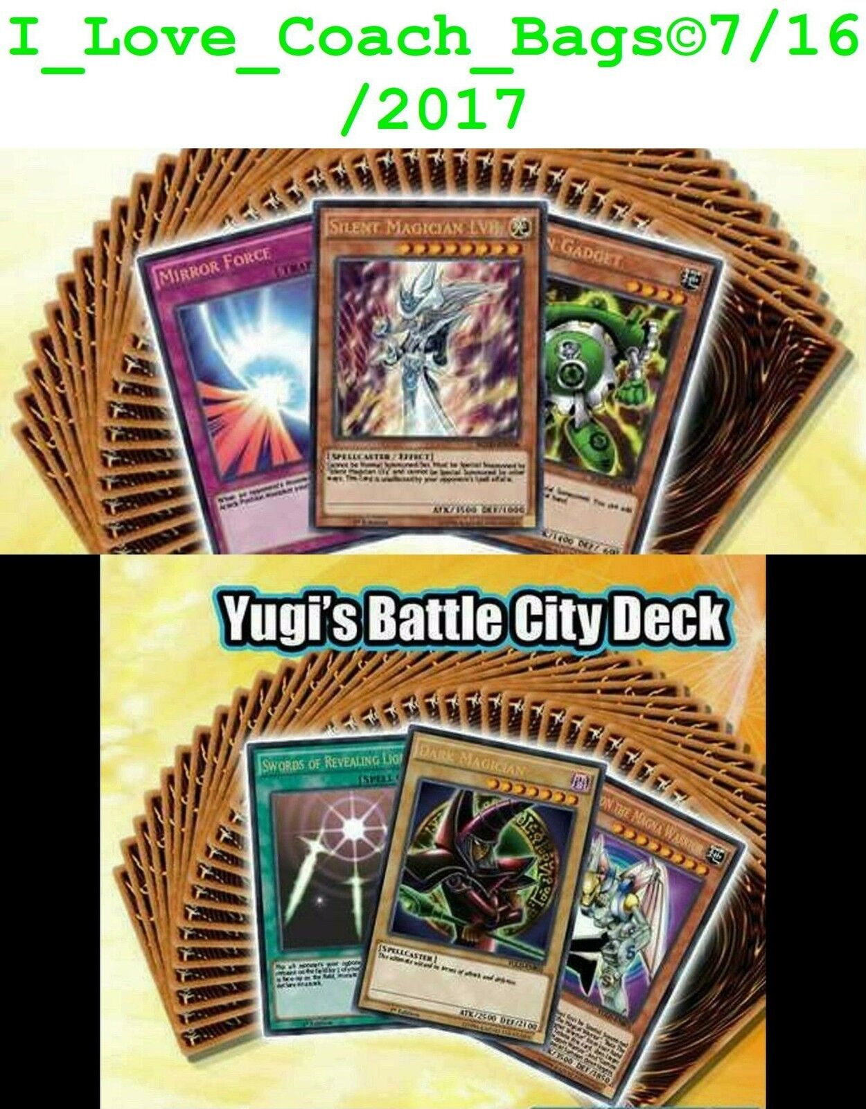 1st Edición Yugi's Legendario Mazos B C Cesta + Basize Ciudad Precintado