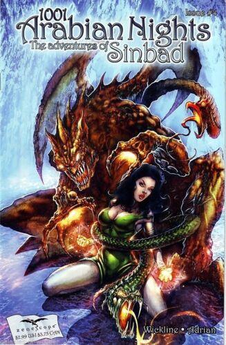 1001 Arabian Nights Adventures of Sinbad #4 ~ Zenescope 4B cover