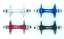 Track Hub Hubs Bitex Front /& Rear Fixed Multiple Colors and Drillings