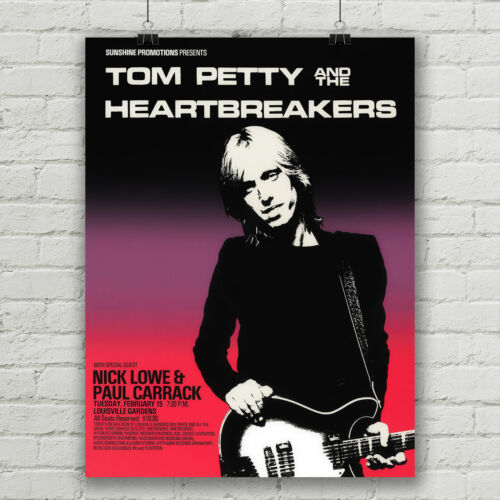 Tom Petty and the Heart Breakers concert poster canvas print