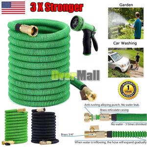 Expanding Garden Hose Water Hose Sprayer Flexible Latex Tube 25 50 75 100 FT