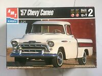 AMT 1/25 1957 CHEVY CAMEO PICK UP TRUCK PLASTIC MODEL KIT ITEM # 6308 OPEN BOX