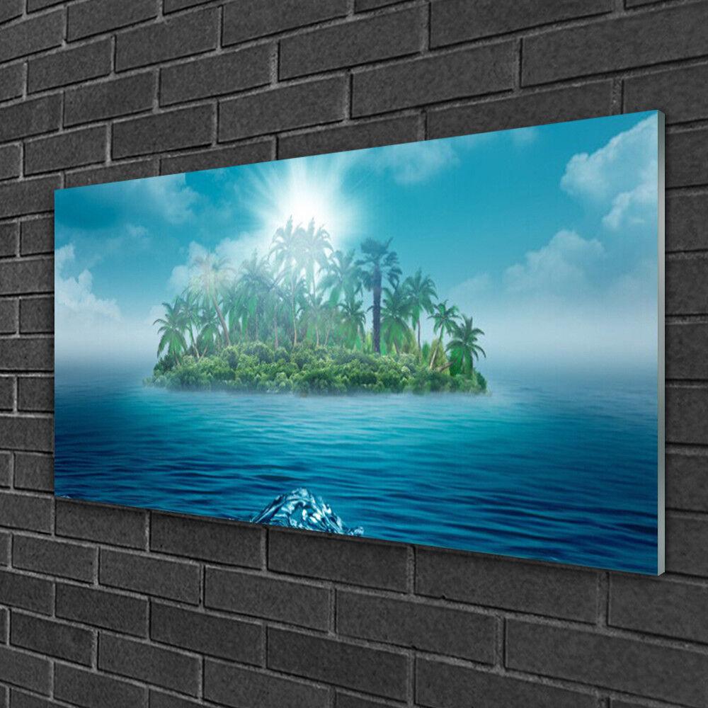 Image sur verre Tableau Impression 100x50 Paysage Mer Île