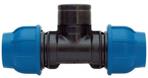 PE-Rohr T-Stück mit IG-Abzweigung 16 mm x 1/2 x 16 mm