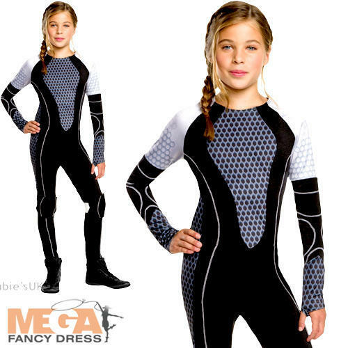 Le ragazze Katniss Hunger Games FANCY DRESS Kids Tweens Mondo Libro Settimana Costume giorno