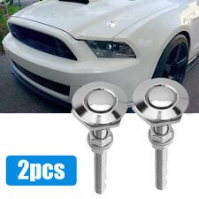 2x Push Button Quick Release Hood Bonnet Pins Lock Clip Car Bumper Latch Kit New