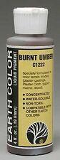 Woodland Scenics C1222 Earth Color Burnt Umber 4 oz  - NIB