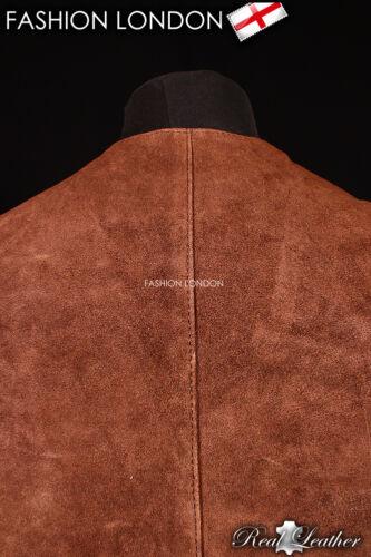 """/""""occidental/"""" en daim marron Casual formelle de véritable cuir d'agneau gilet"""