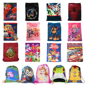 Cute Animal School Drawstring Book Bag Sport Gym PE Dance Girls Boys Backpack UK