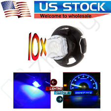 10Pcs T5/T4.7 Neo Wedge LED Blue Dash Panel Climate A/C Heater Light Bulb Lamps
