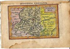 Carta geografica antica HAINAUT Mons Vallonia Ortelius 1609 Old antique map