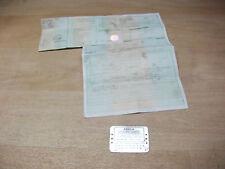 Aprilia RSV Mille 1000 RP Bj.01-03 (Unfallrahmen Ez.4.02) Typenschild mit Brief