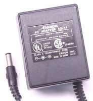 Canon Ad-11 Ac Dc Power Adapter Charger Output 6v 300ma For Electric Calculator