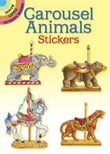 Dover Little Activity Books Stickers Carousel Animals By Judy M Johnson 1997