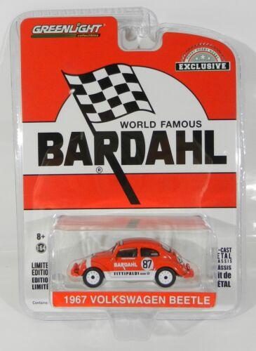 1:64 Greenlight BARDAHL 1967 Volkswagen beelte voiture de course Hobby exclusive Neuf sous emballage *