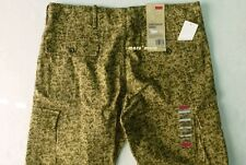 $68 New Mens LEVIS Slim Camouflage Cargo Pants 34 x 32 Beige/Brown/Green Camo bg