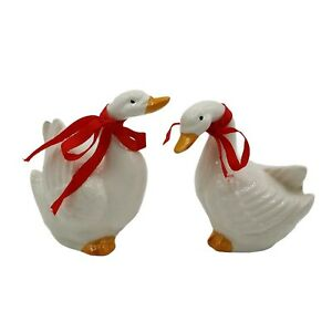 Takahashi Geese Goose Bird Figurines Ceramic Japan