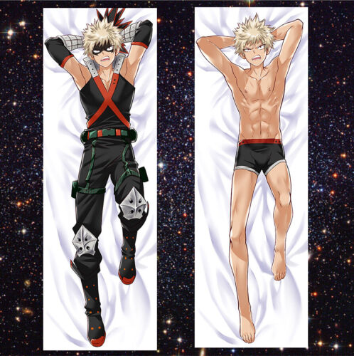 Anime Boku no Hero Academ Dakimakura Bakugou Hugging Body Pillow Case 50*150cm