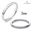 925-Sterling-Silver-D-Shape-Wedding-Ring-Band-2mm-3mm-4mm-5mm-6mm thumbnail 2