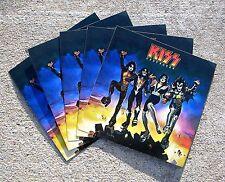 "KISS Destroyer Vintage Original 1976 5"" x 5"" Promo Sticker Set Of 5 Mint- UNUSED"