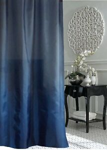 Image Is Loading Clearance Evening Blue Fabric Shower Curtain 1m W
