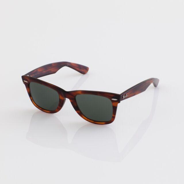 9ae8bd8a056 New Vintage B L Ray Ban Wayfarer L2052 C. Mock Tortoise 50mm Sunglasses USA  NOS