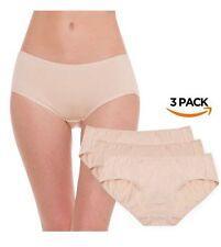 Hesta Plus Size Women's Organic Cotton Basic Panties Underwear Briefs 3 Pack 3XL